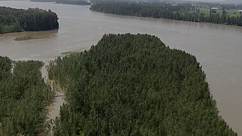 The Fraser River could swell by another metre by next week, according to provincial officials. (Chopper 9)