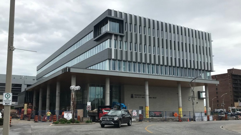 The new Windsor City Hall at 350 City Hall Square West in Windsor, Ont., on Tuesday, May 15, 2018. (Rich Garton / CTV Windsor)