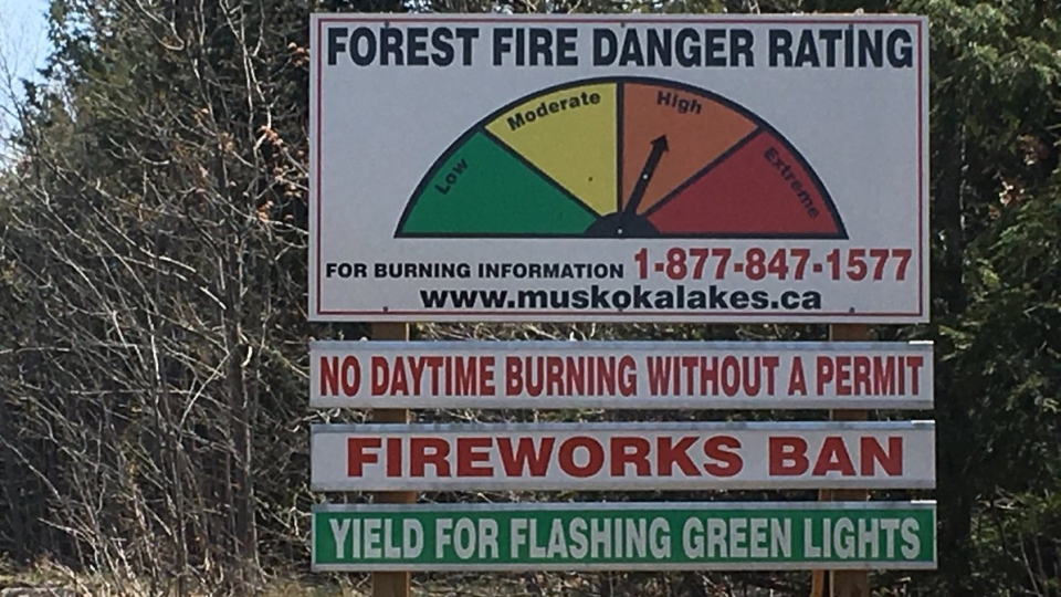 The forest fire danger rating in Muskoka was upgraded to high on May 14, 2018. (CTV Barrie)