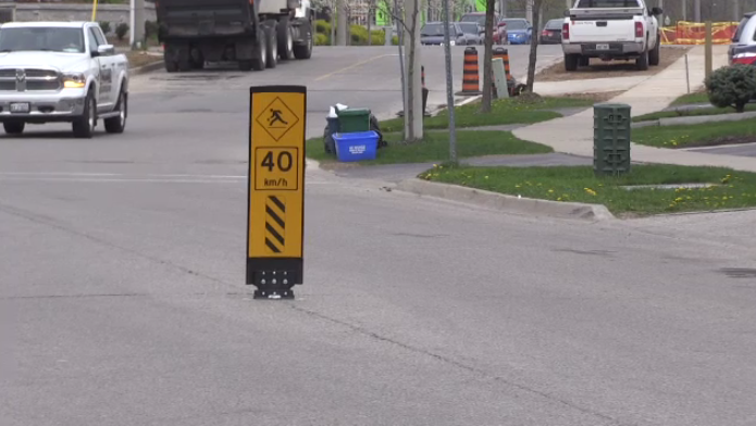 Barry Cronkite, manager of transportation, says these have been installed on problem roads.
