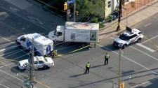 Cyclist struck in Leslieville