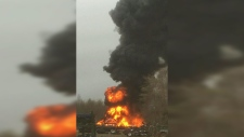 N.S. crews battle massive tire fire