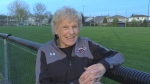 Ada Edwards at a city soccer field as she prepares to step aside from running women's soccer league