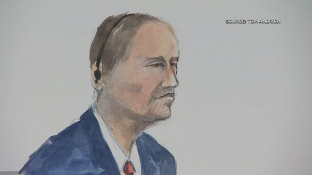 Guido Amsel, 52, is represented in this court sketch from his trial. (Source: Tom Andrich)