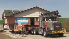 Habitat for Humanity put a home, in London, on wheels and drove it to Ingersoll.