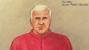 Court sketch of Dr. Vincent Nadon