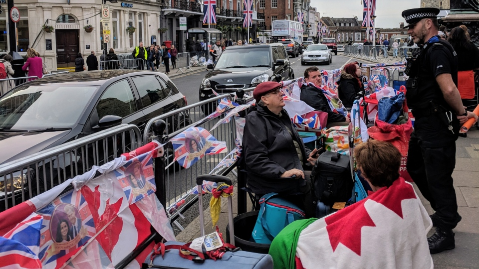 Up to 100,000 people are expected to pour into Windsor, England, ahead of the royal wedding.(Mary Nersessian / CTV News)