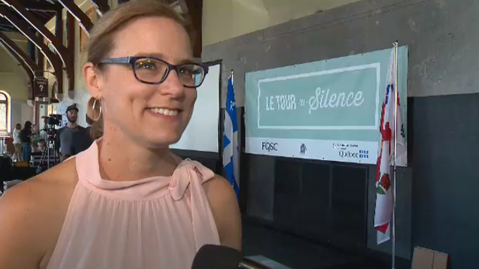 Catherine Bergeron, whose son Clement Ouimet died in 2017 while cycling on Mount Royal, was the spokesperson for the 2018 Ride of Silence in Montreal