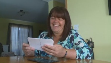 Woman reunited with lost camera
