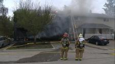 Calgary, fire, apartment fire, blaze, Killarney fi