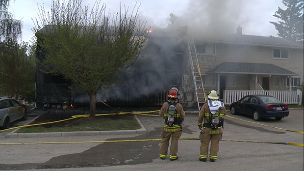 Fire crews were called to a townhouse in the city's southwest on May 17, 2018.