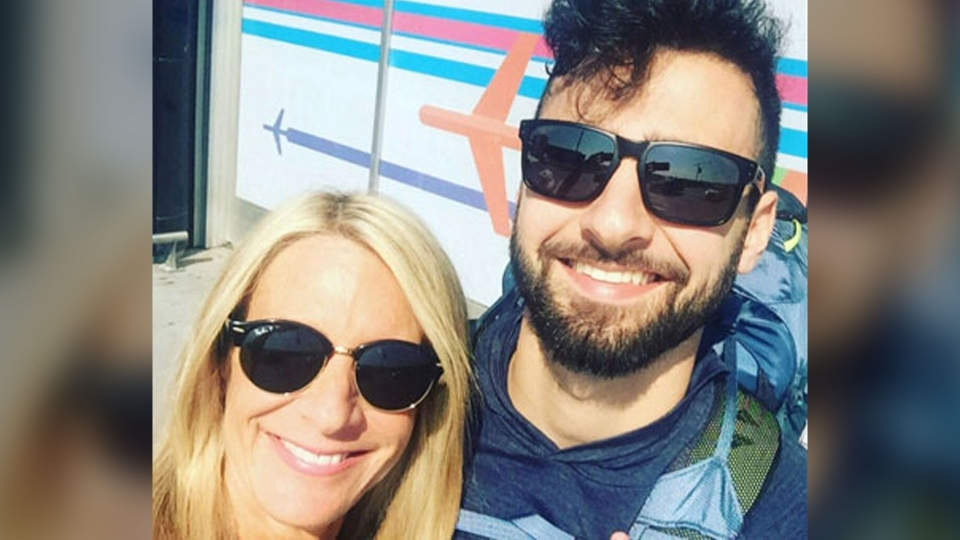 Jesse Galganov, 22, (right) is seen with his mother Alisa Clamen in this undated photo. (CP24)