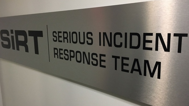 The Serious Incident Response Team's logo is shown in this file photo taken at their headquarters.