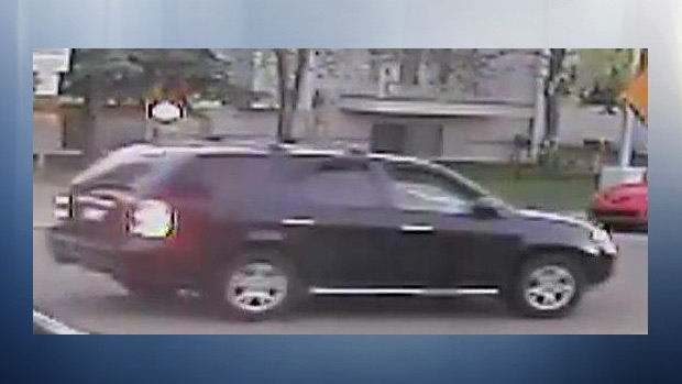 EPS released an image showing the suspect vehicle believed to have been involved in a hit and run in the area of 48 St. and 12 Ave. on Saturday, May 12, 2018. Supplied.