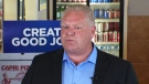 Doug Ford speaks at Capri Pizza in Cambridge on Thursday, May 17, 2018.