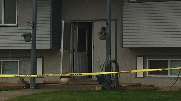 Police taped off a home on Penbrooke Close S.E. following a shooting incident.
