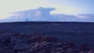 This photo provided by U.S. Geological Survey shows the ash plume at the Kilauea Volcano, taken from a Mauna Loa webcam on Thursday, May 17, 2018 in Hawaii. The volcano has erupted from its summit, shooting a dusty plume of ash about 30,000 feet into the sky. Mike Poland, a geophysicist with the U.S. Geological Survey, confirmed the explosion on Thursday. It comes after more than a dozen fissures recently opened miles to the east of the crater and spewed lava into neighborhoods. (U.S. Geological Survey / HVO via AP)