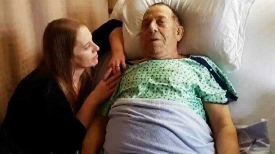 Charles Jackson, 80, is recovering in hospital after shattering his femur in three places.