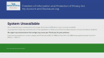 Nova Scotia's Freedom of Information Portal remains offline, a month after a security breach.
