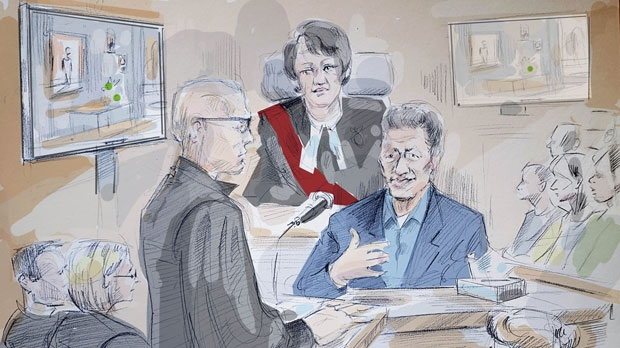 A sketch of Domenico Scopelliti, who was in court on May 17, 2018. (Alexandra Newbould)