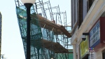 Scaffolding accident closes Queen Street