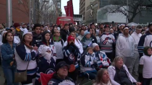 13,000 Jets fans packed the Winnipeg Whiteout Street Party for Game 5 of the Western Conference Finals. (File)