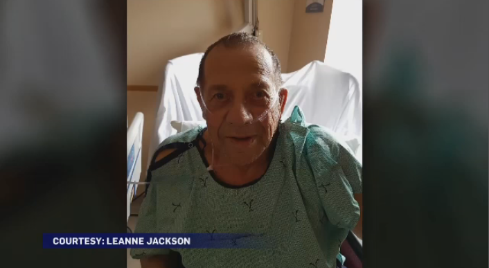 Charles Jackson, 80, broke his hip after falling while fishing, but says it could have been worse if a fellow fisherman didn't come to his aid.