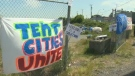 A homeless camp in Nanaimo in 2018. (CTV Vancouver Island)