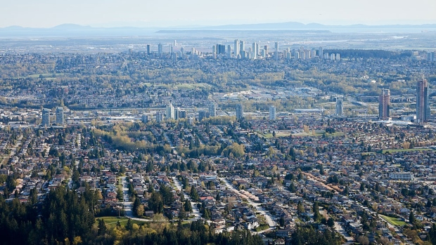 Part of the Burnaby skyline is seen in this image from CTV's Chopper 9. (Gary Barndt)