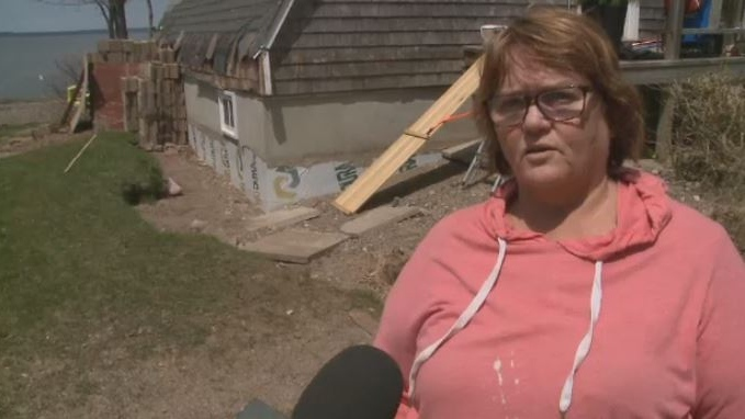 Dixie Wilson says recent flooding has caused significant damage to her cottage in Fanjoys Point, N.B.
