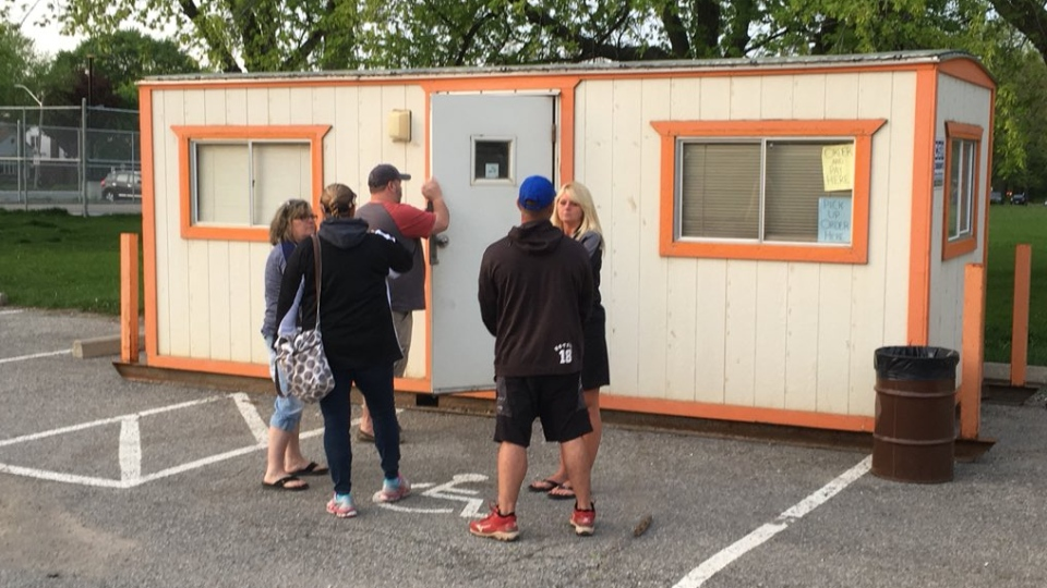 There was a  report of a break and enter to a trailer in Optimist Community Park in Windsor, Ont., May 17, 2018. (Chris Campbell / CTV Windsor)