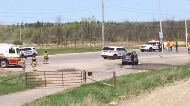 Body found in burning vehicle