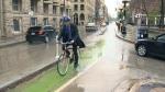 New Exchange bike lane