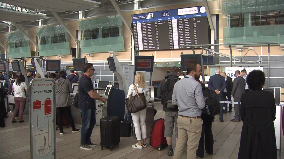 YVR officials say more than two million passengers passed through the airport in March 2018.