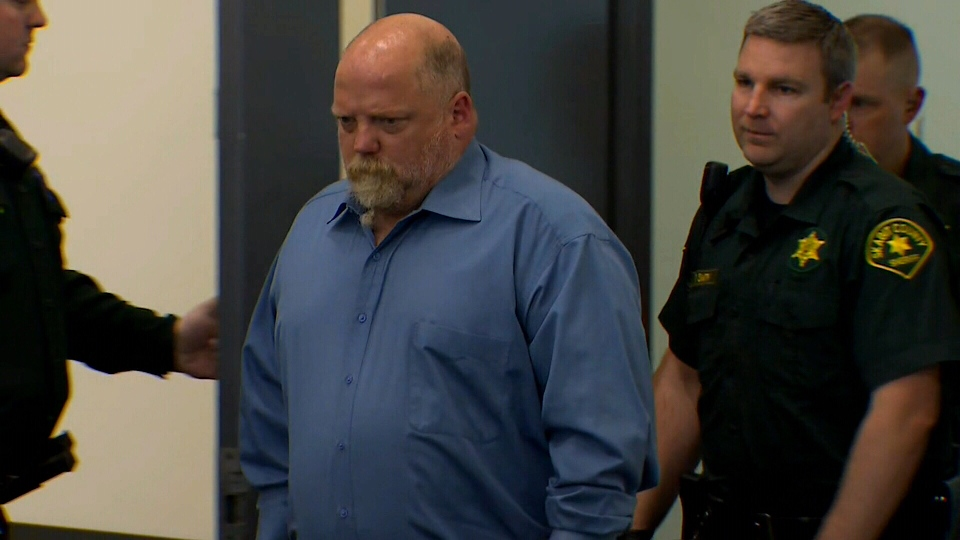SeaTac-area man William Earl Talbott II, 55, appeared in court Friday after he was taken into custody and charged with the first-degree murder of Tanya Van Cuylenborg, 18. May 18, 2018. (Courtesy KOMO News)