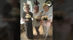 A few ladies in Bath, Ont. put on their fanciest fascinators for the big day. (Vicki McConnell / Twitter)