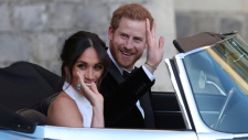 CTV News Channel: Newlywed royal couple drives off