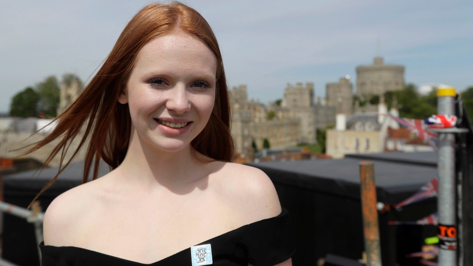 Faith Dickinson, 15, from Peterborough, Ont. poses for a picture in Windsor, England on Friday, May 18, 2018. (THE CANADIAN PRESS/Kirsty Wigglesworth)
