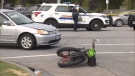 Surrey RCMP are investigating after a crash sent a cyclist to hospital in critical condition Saturday. (CTV)