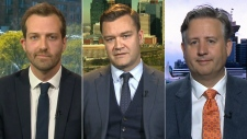 MPs Joel Lightbound, Matt Jeneroux and Kennedy Stewart on CTV's Question Period on Sunday May 20, 2018. (CTV News)