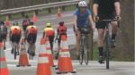 Sunday's event marked the beginning of the Cyclovia season, put on by the City of Montreal and cycling club Maglia Rosa. (CTV Montreal)