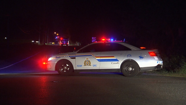 Police closed the road for about a kilometre in either direction overnight while crews fought the flames.