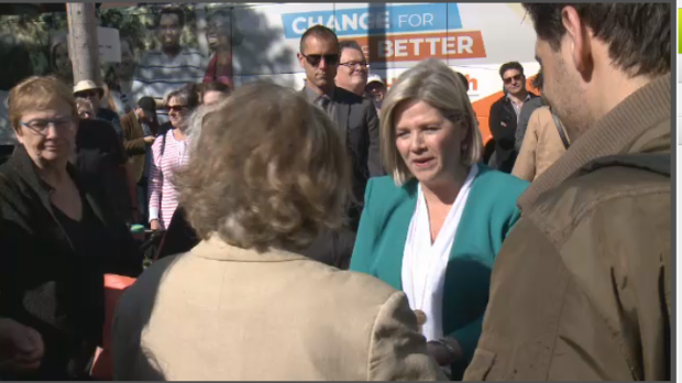 NDP leader Andrea Horwath comes to Ottawa for the first time since the writ drop.