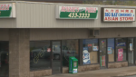 Halifax police are looking for a suspect after an attempted hold-up at a pizza shop in Dartmouth early Sunday morning