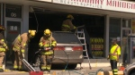 No one was hurt after a minivan crashed into a northeast business on Sunday and police say driver error could be to blame.