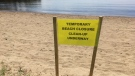 Kirby's Beach Park and Bracebridge Bay Park remain closed all Victoria Day long weekend. (CTV Barrie/Mike Arsalides)