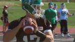 Zach Collaros at Saskatchewan Roughriders training camp.