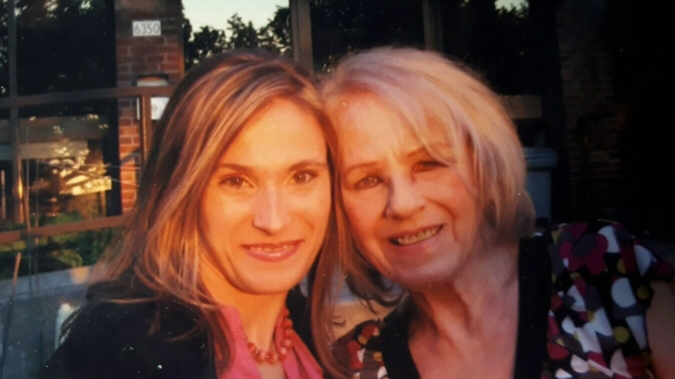 Angela Bardosh (left) and her mother Nancy Layton are seen in this undated photograph. Bardosh claims her mother's time as a patient of Project MKUltra ruined her life.