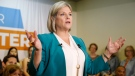Ontario NDP Leader Andrea Horwath speaks at a campaign stop in Ottawa on Sunday, May 20, 2018. (THE CANADIAN PRESS/ Patrick Doyle)