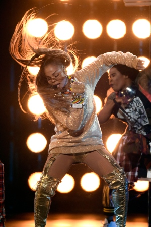 Icon award winner Janet Jackson performs a medley at the Billboard Music Awards at the MGM Grand Garden Arena on Sunday, May 20, 2018, in Las Vegas. (Photo by Chris Pizzello/Invision/AP)